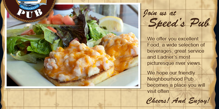 Join Speed's Pub for some great food